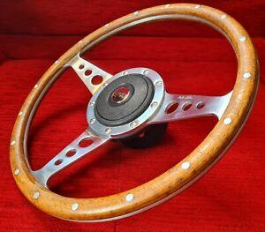 "Classic Mini Cooper 1275GT Moto-Lita 13"" Wooden Wood Rim Steering Wheel & Boss"