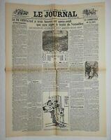 N615 La Une Du Journal Le journal 28 juin 1919 la vie chère et ses remèdes