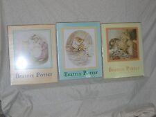 """Beatrix Potter Art Print Reproductions Set of Three, Original Wrapping 16"""" x 20"""""""