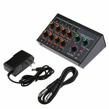 8 Channel Microphone Mixer Mono Stereo Audio Amplifier Home Karaoke Sound Mixing