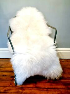 XXXL Huge 135cm British Cream Sheepskin Rug A+++
