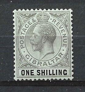 GIBRALTAR KGV 1912 1/- Black Green SG81b MLH