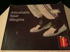 Ankle ADJUSTABLE SPAT EXERCISE Weights BLACK 2.6 lbs LACE BILLARD BARBELL W BOX