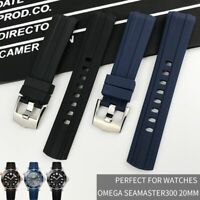 Rubber Silicone Watch Strap 20mm 21mm 22mm For Grind Arenaceous Substitute Belt