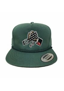 Hourless Certain Death Snap-back Hat Mens ARMY GREEN Afends RVCA Drop Dead Vans