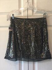 "Women's Skirt  NWT Jennifer Lopez black Sequin Skirt Sz 2~14"" W~16.5L~21""H"