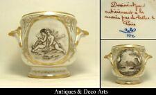 Le Tallec à Paris Cache-Pot en Porcelaine Peint Main avec Anges Putti et Paysage