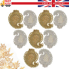 Large Applique Motif Pearl Beaded Patch Mesh Sewing Bridal Wedding 1/2/5/10pcs