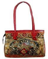 Batik Design LADIES BAG Vintage Shantiniketan 100% Pure Leather Bag
