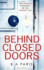Behind Closed Doors,B A Paris