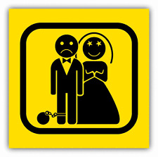 "Game Over Wedding Warning Sign Funny Humor Car Bumper Sticker Decal 5"" x 5"""