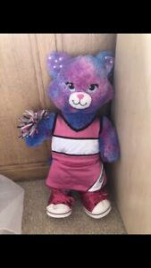 Build A Bear Rainbow Cat With Cheerleading Outfit