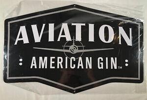 "Aviation American Gin Tin Metal Sign New Airplane Bar Decor Man Cave22"" X 14"""
