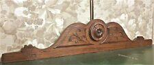 Farmhouse rosette wood carving pediment Antique french architectural salvage