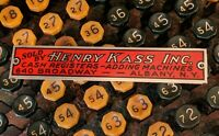 Vtg Metal Advertising Sales Tag Sign Cash Registers Adding Machines Albany NY