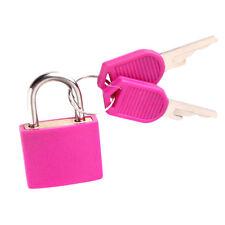 Travel Suitcase Luggage Diary Lock Copper Plastic Mini Lock Padlock Kit w/2 Keys