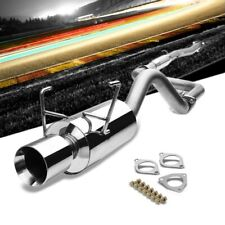 "4"" Roll Muffler Tip Exhaust Catback System For 93-97 Civic del Sol1.6L SOHC"