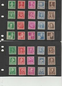 U.S. 1940 Famous Americans #859-893, 35 Stamps COMPLETE, mNH Fine