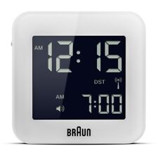 £29.99 Braun BNC008WH-RC Global Radio Controlled Travel Alarm Clock - White