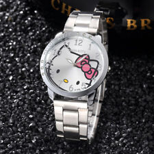 New Hello Kitty Girls Womens Watch Luxury Diamond Stainless Steel Free Shipping