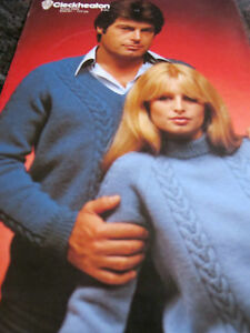 CLECKHEATON KNITTING PATTERN LEAFLET,USED,NO 0023,8 PLY,81-117CM