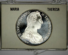 1780 AUSTRIA SILVER THALER PROOF - FLAWLESS AND WHITE- CASE INCL. -PRICED RIGHT!