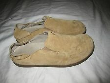 Olukai Nohea Suede leather casual Mens shoes size 11 camel color Slip Ons