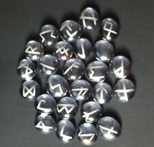 Runes Set, Light purple/lilac Rainbow with silver.brand new.Engraved