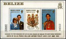 Belize 1982 SG#MS720 Royal Baby Nascita Guglielmo Gomma integra, non linguellato M/S #D73650
