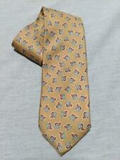 """Brioni Italy Lt.Yellow w/ Red and Blue Small 00006000  Paisley Silk Necktie 60"""" x 3.25"""""""