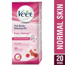 Veet Easy GelWax Full Body Legs Gel Wax Strips (20 Strips + 4 Wipes) - Normal
