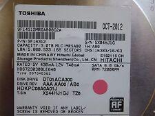 3 TB Toshiba DT01ACA300 | MLC: MRSAB0 | PN: 9F14312 | OCT-2012