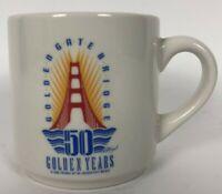 Vintage 80s Friends Of Golden Gate Bridge 50 Golden Years Coffee Cup Mug