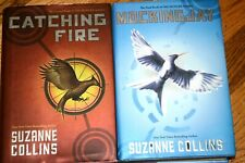 CATCHING FIRE & MOCKING JAY BY SUZANNE COLLINS HARDCOVER BOOK FIRST EDITIONS