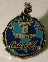 1996 Coca Cola Coke Atlanta Olympics Sponsor Lapel Pin ~ Olympic Torch~100 Years