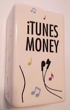 "Apple iTunes Money $ Bank~Ceramic~@5.5"" x 3"" x 2""~By Pretty Penny~NIB~Ships FREE"