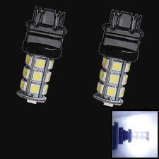 Pair 3157 3156 18SMD 5050 LED White Light Car Steering Brake Bulb Tail Lamp 12V