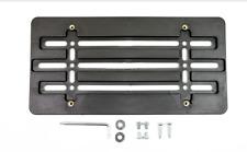 License Plate Tag Holder Mounting Bumper Kit Bracket Frame Shield Clear Smoke