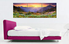 "16X16"" X3PCS Wall Decro Art Oil Painting on Canvas NO FRAME SUNRISE SCENIC 173"