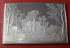 """Currier & Ives """" Winter in Country Ingot """" 2.75 oz .999 Silver by Franklin Mint"""