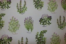 Wind curtain fabric design Fraser lavender/pink 2 metres botanical plants