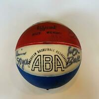 1974-75 Indiana Pacers Team Signed Game Used ABA Basketball