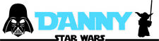 STAR WARS WALL ART STICKERS FOR BEDROOM HUGE 1 METRE WIDE PERSONALISED STICKERS