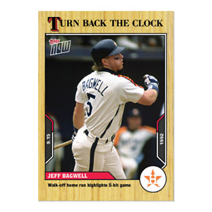 2021 TOPPS TURN BACK THE CLOCK #168 JEFF BAGWELL HOUSTON ASTROS WALK OFF