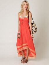 🌞Free People Sunburst Beach Cover up Boho Crinkle Dress Coral XS 2 S 4 6 M 8