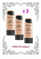 BULK 3 X MAX FACTOR LASTING PERFORMANCE FOUNDATION 101 IVORY BEIGE makeup