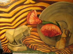 Vintage Oil Painting Frank Piazzi Signed 1945 Large Original Wisconsin Artist
