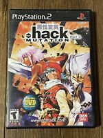 DOT .hack MUTATION PlayStation 2 PS2 2003 Game Manual Case Complete RARE TESTED