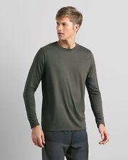 10 Gildan Polyester Performance Long Sleeve Shirt Bulk Lot ok to mix S-XL Colors