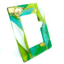 Murano Glass Photo Frame Green Gold White Venice Unique Item 11cm x 8.5cm